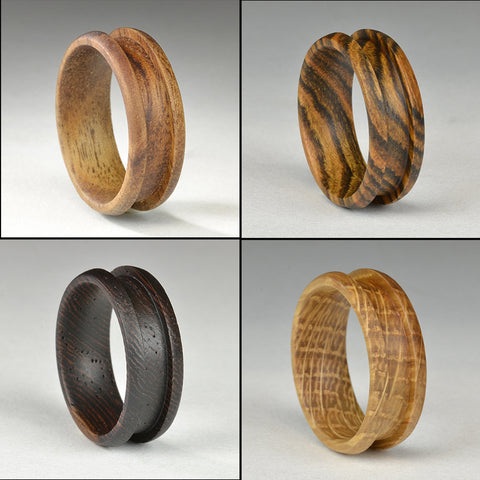 Exotic Wood Ring Core Blanks