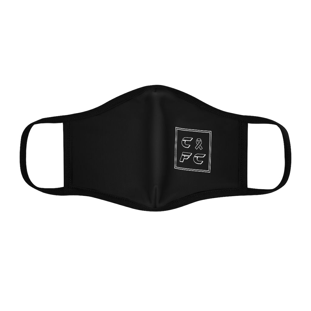 Retro CFC Fitted Polyester Face Mask (Black)