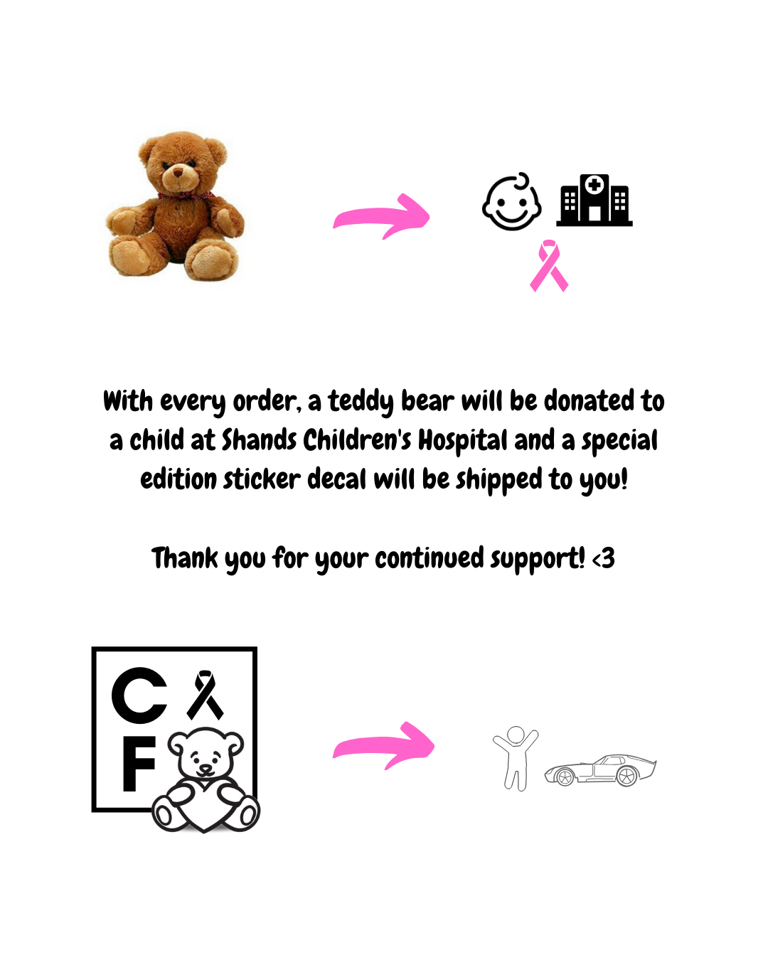 Special Edition White Decal (Donate a bear)