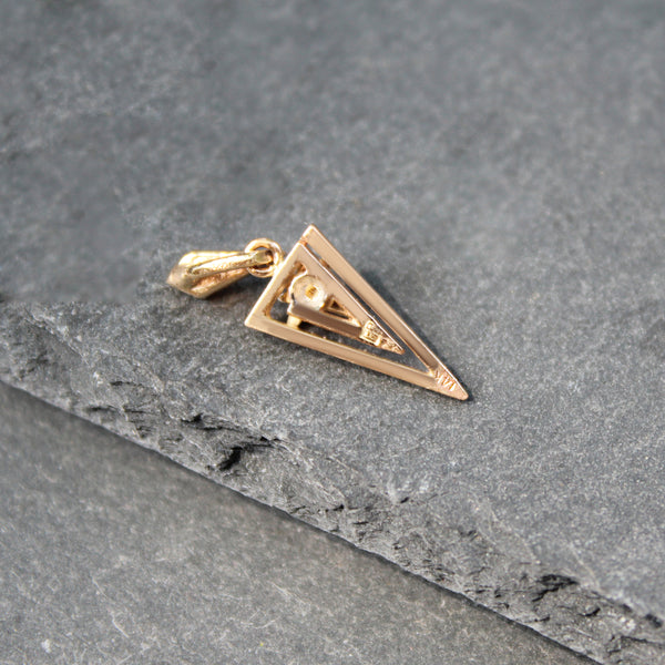 18k Gold + Emerald Heart Ring