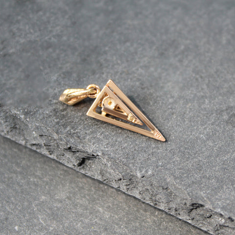 Gold + Emerald Heart Ring