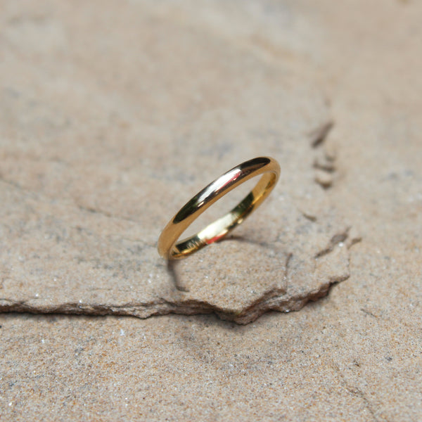 Classic 14k Gold Band Stacking Ring