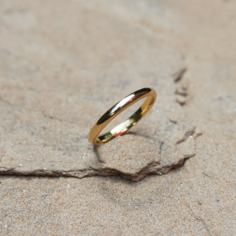 Classic Gold Band Stacking Ring