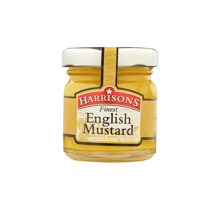 English Mustard Mini Jar (Case of 72) - Harrisons Sauces