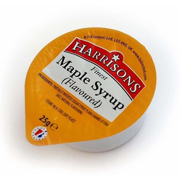Maple Syrup Dip (Case of 100) - Harrisons Sauces