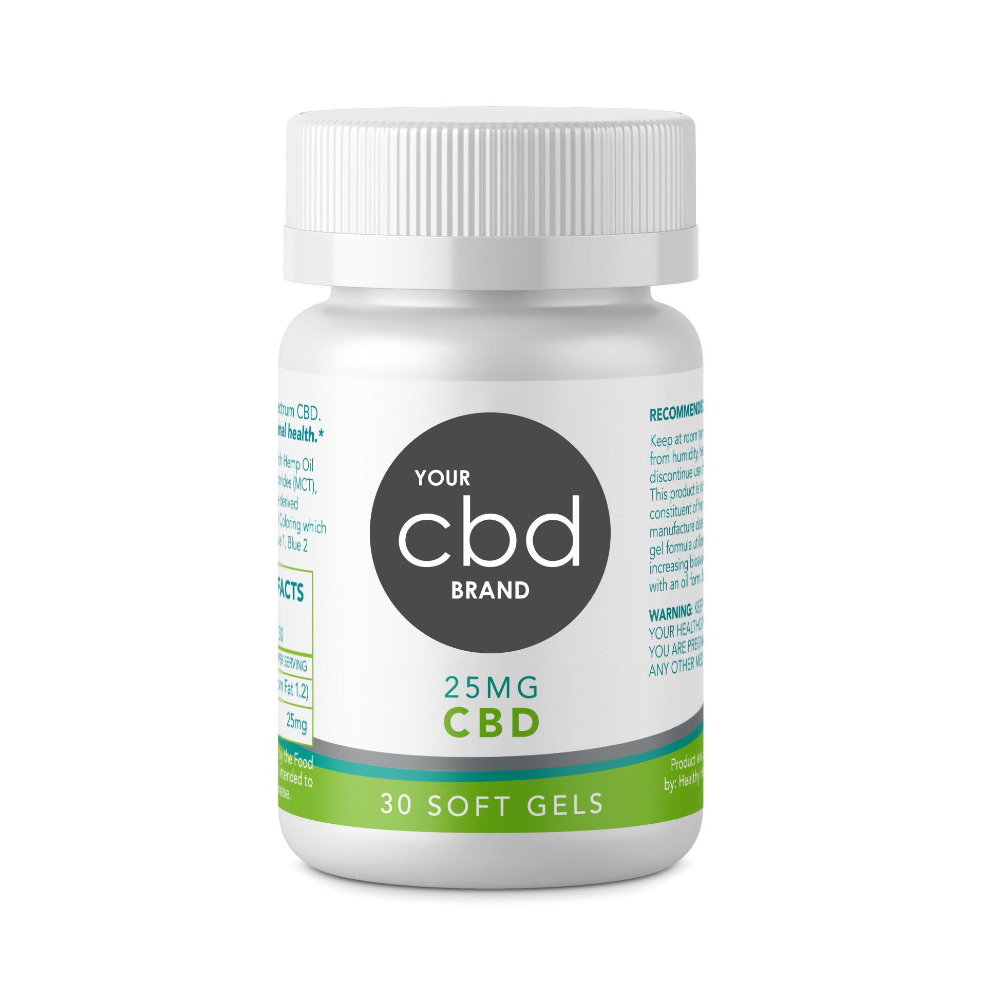 CBD Softgel Liquid Capsules