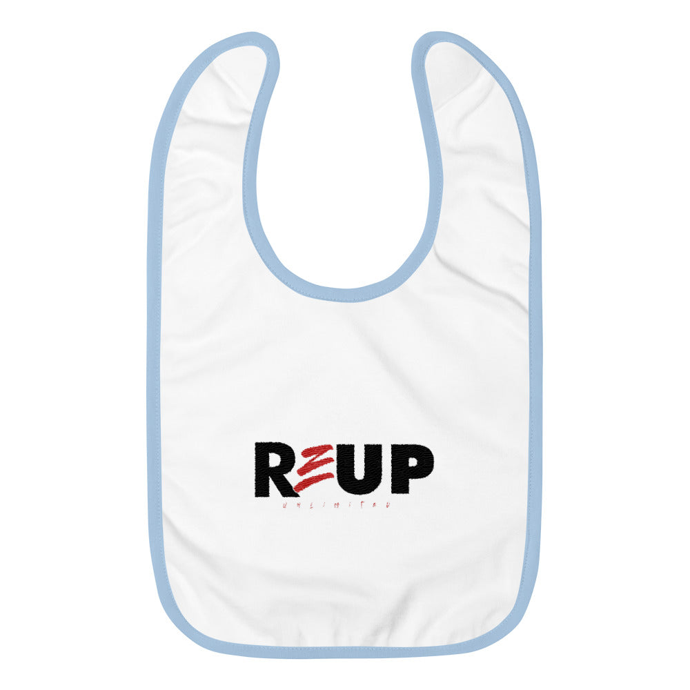 ReUp Embroidered Baby Bib