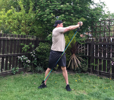 Resistance Bands Outdoor Back Workout
