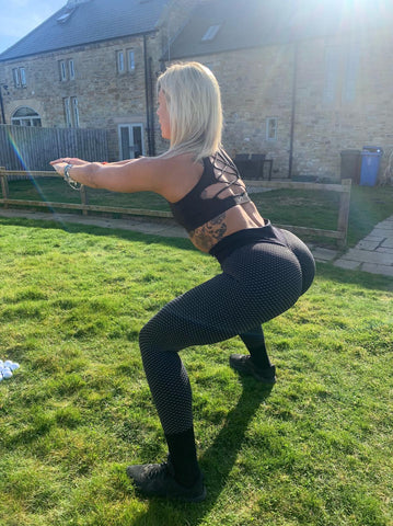 Squat in Fishnet Ribbed Gym Leggings Not Just A Pretty Face