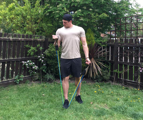 Resistance Bands Outdoor Bicep Workout