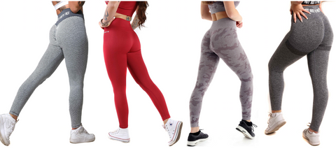 SQUAT PROOF LEGGINGS RUCHED BOOTY ENHANCING HIGH WAISTED