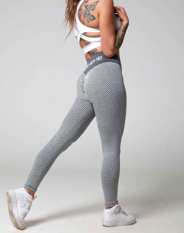 What To Wear To Yoga: Find Your Flow In Style! 3D Fishnet Ribbed Booty Gym Leggings
