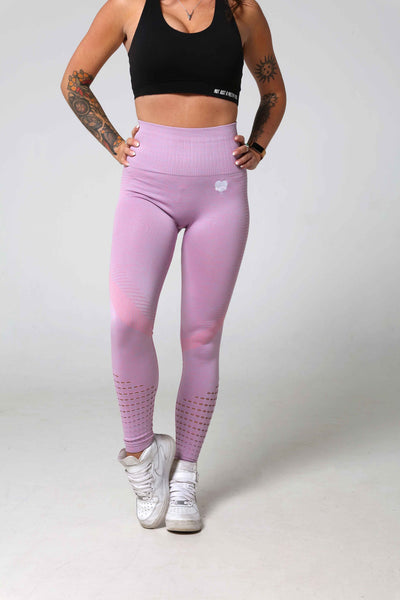 Contoured Pink Gym Leggings Front