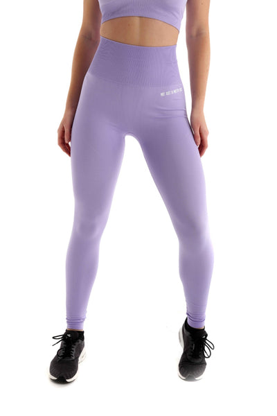 Pastel High Waist Seamless Gym Leggings | Lilac Front