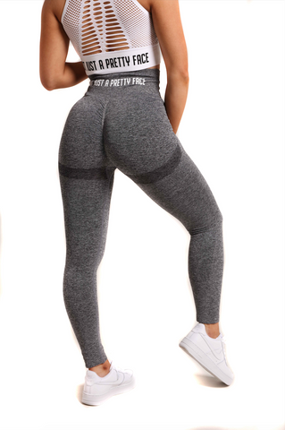 Perfect Peach Seamless Scrunch Gym Leggings | Gorgeous Grey Back