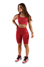 Vitality Gym Cycling Shorts | Scarlet Red