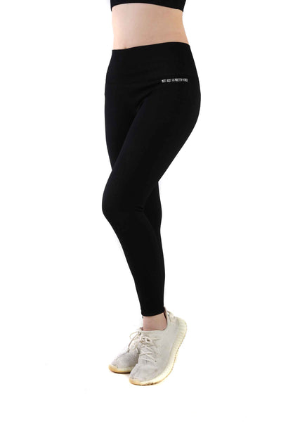 Vitality High Waist Gym Leggings | Obsidian Black