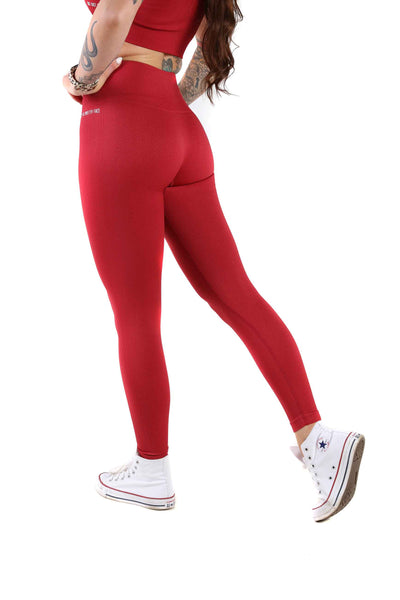 Vitality High Waist Gym Leggings | Scarlet Red