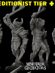 Minotaur Gladiator With Helmet - Rocket Pig Games