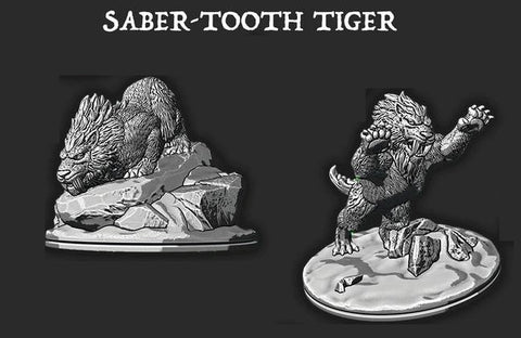Saber Tooth Tiger - Ec3D