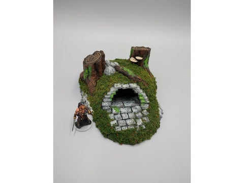 Forest Barrow Entrance 28mm scale - EC3D 3D Printed Miniature