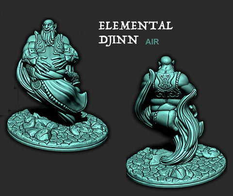 Air Elemental Djinn - Ec3D