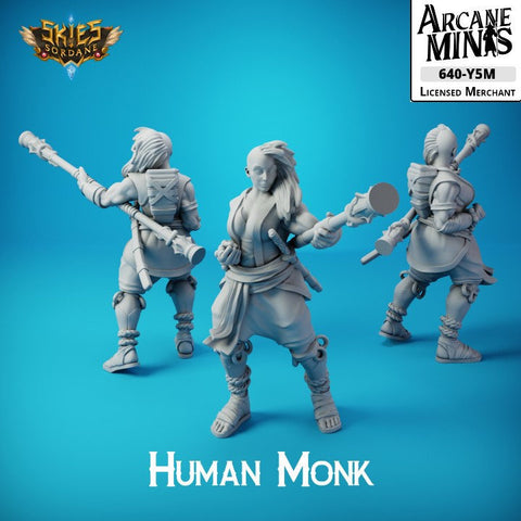 Female Human Monk - Carren Pirates - Skies Of Sordane