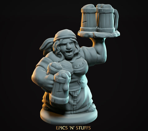 Dwarven Female Bartender - Epics'N'Stuffs