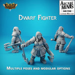 Dwarf Fighter - Merchant Guilds – Skies of Sordane Resin Miniature