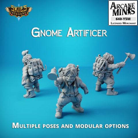 "Gnome Artificer - Merchant Guilds €"" Skies Of Sordane"
