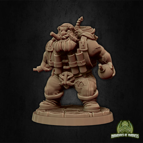 Dwari the Dynamiter - Hold My Dwarf - Miniatures of Madness