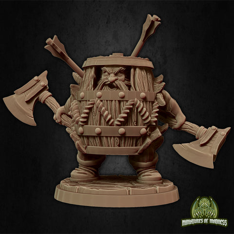 Klaus the Barrel - Hold My Dwarf - Miniatures of Madness
