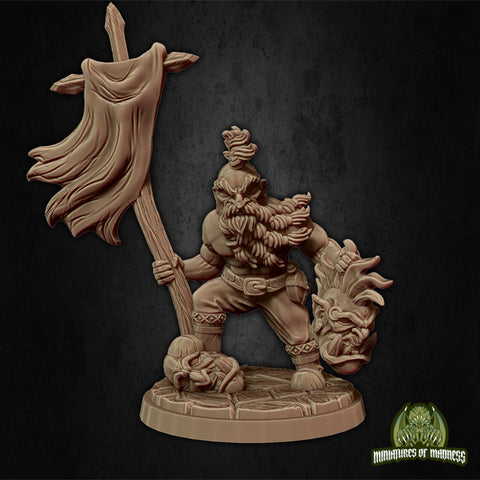Tegnar the Bloodthirsty - Hold My Dwarf - Miniatures of Madness