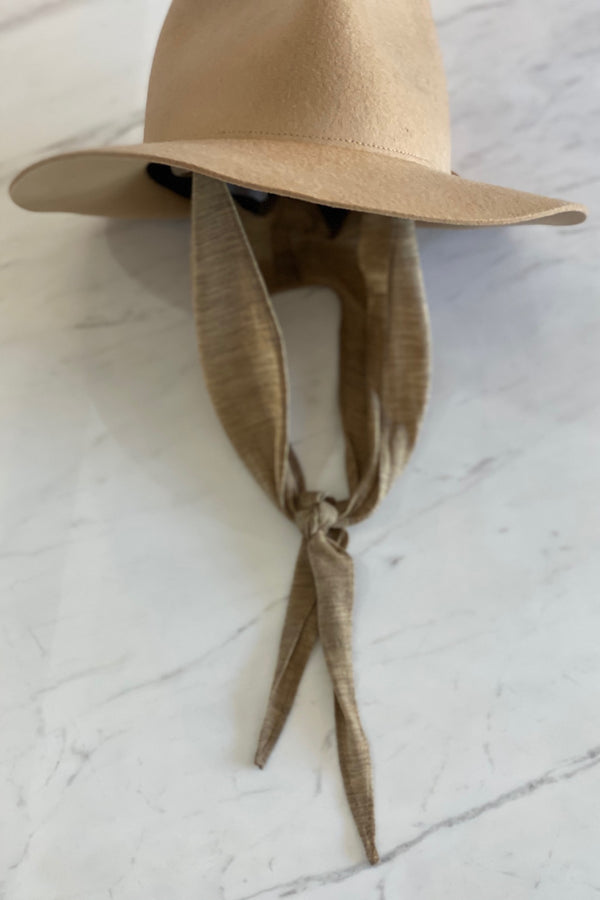 Camel Pinch Hat w Neck Shade
