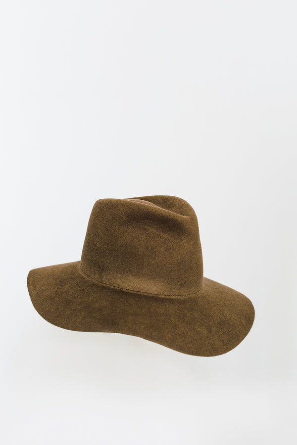 Mink Wide Pinch Hat