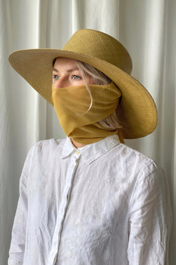 Pearl Hat with Neck Scarf