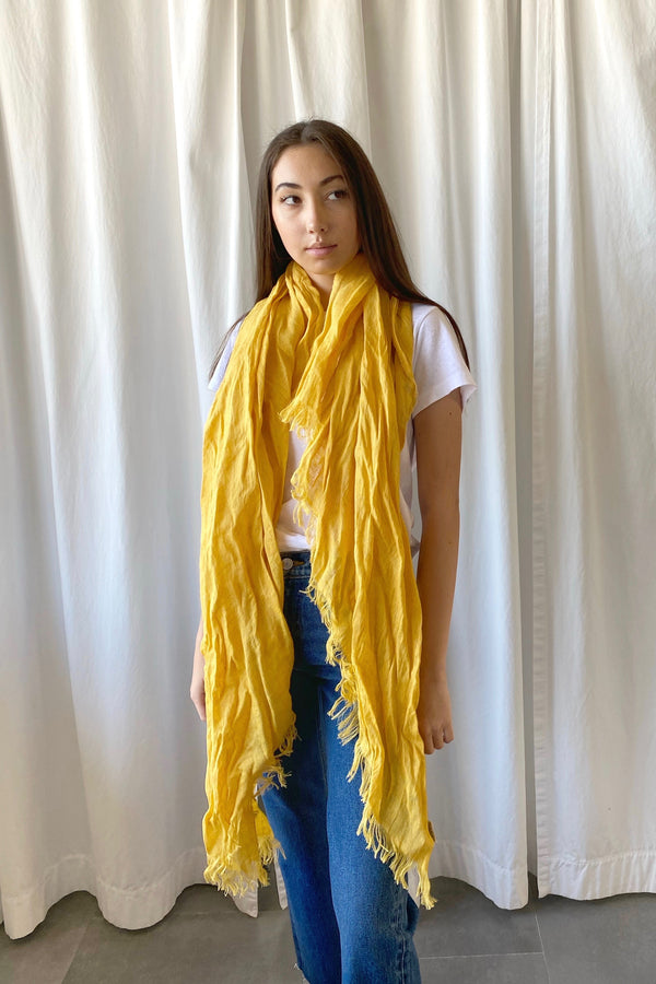 Yellow Quadra Scarf