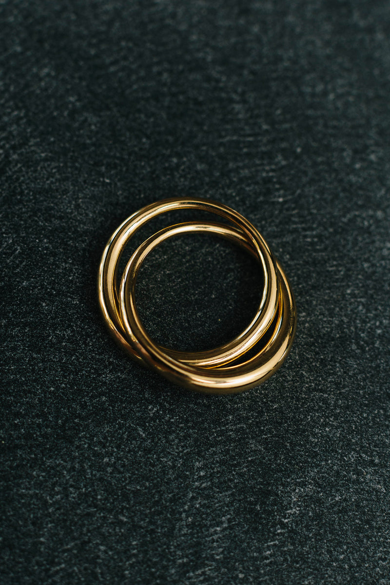 Gold Duo Form Ring
