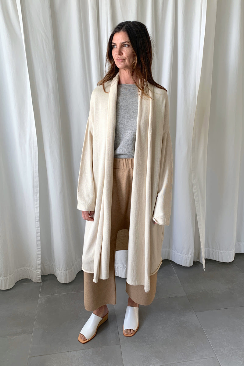 Slouch Cardigan Raw White
