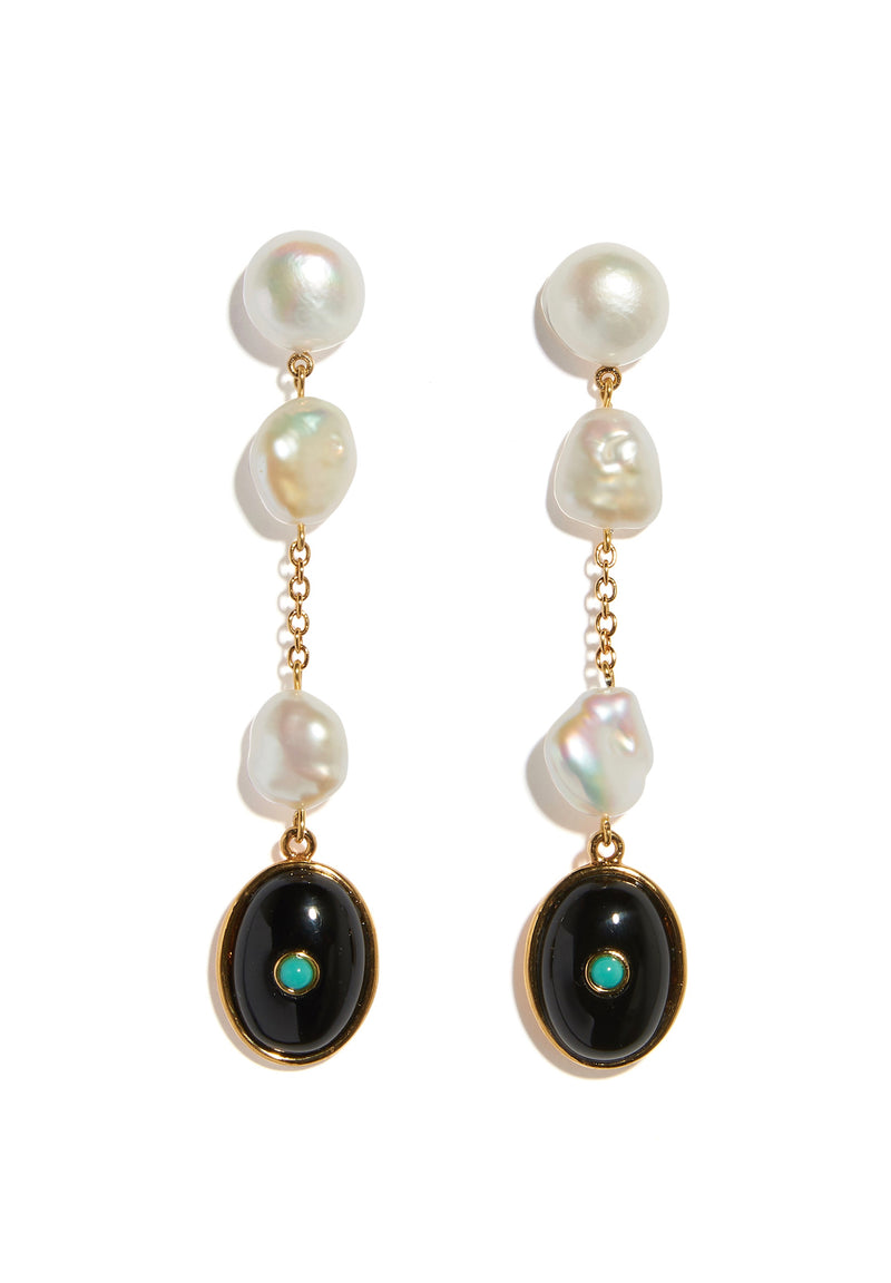 Bon Vivant Earrings in Pearl
