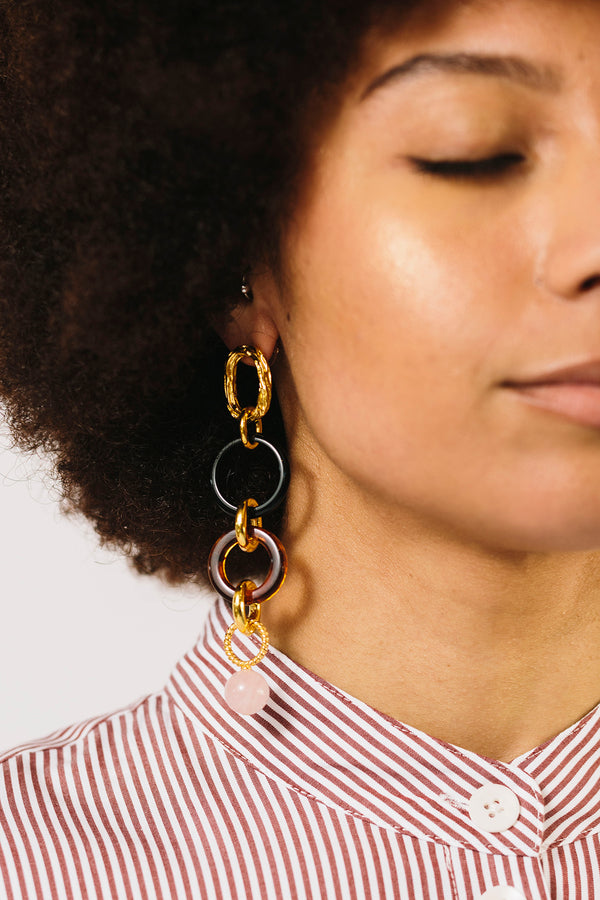 Linked Tortoise Earrings