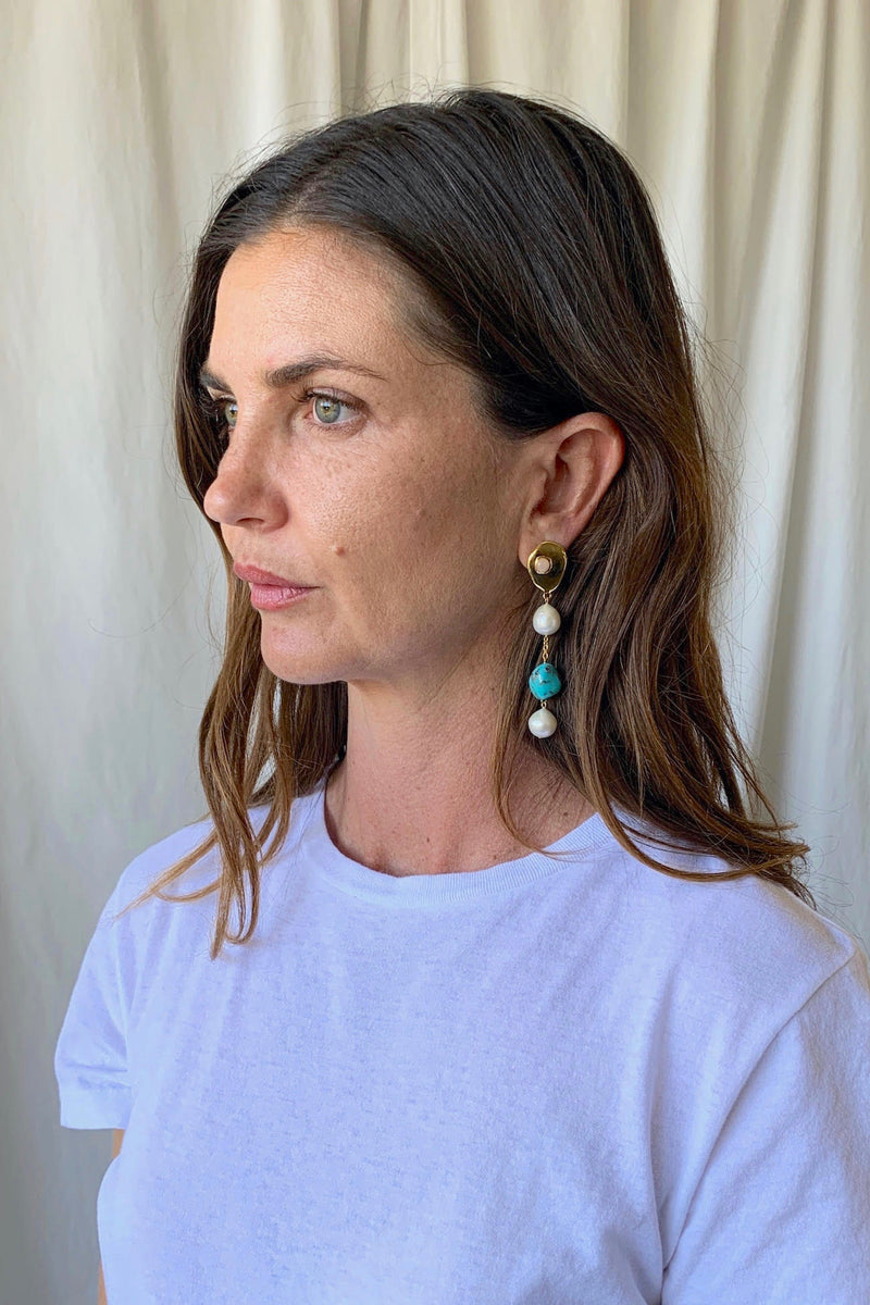 Turquoise Sand Earrings
