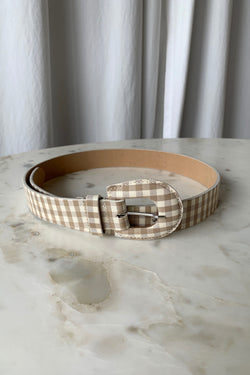 Gingham Bruno Belt