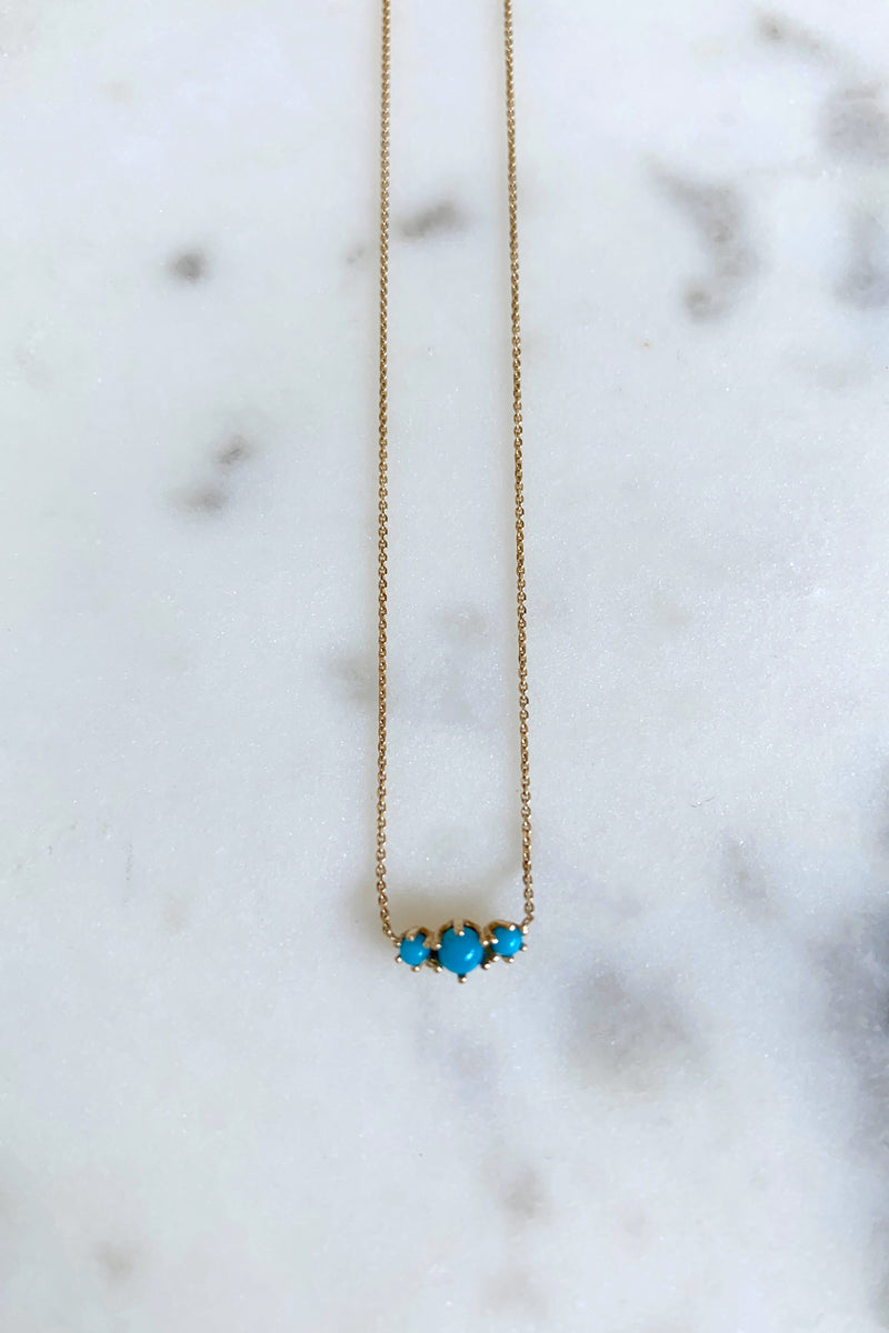 Turquoise Ball Cluster Necklace