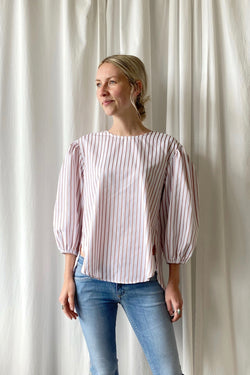Light Poplin Puff Top