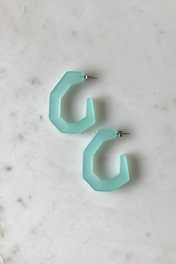 Clear Jade Baby Factor Earrings