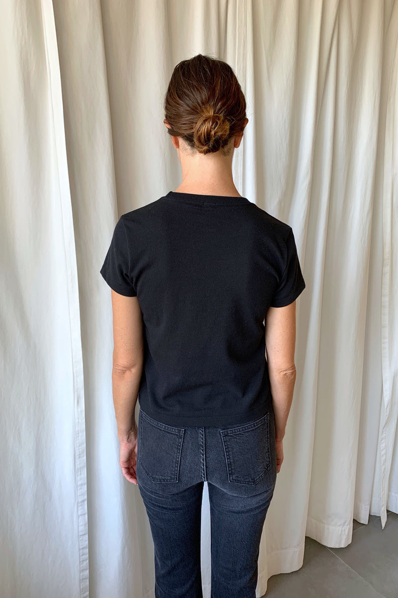Black Recycled Tee