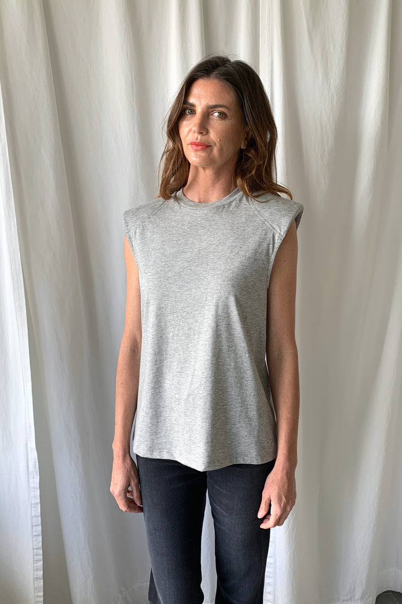 Shoulder Pad Shirt Grey