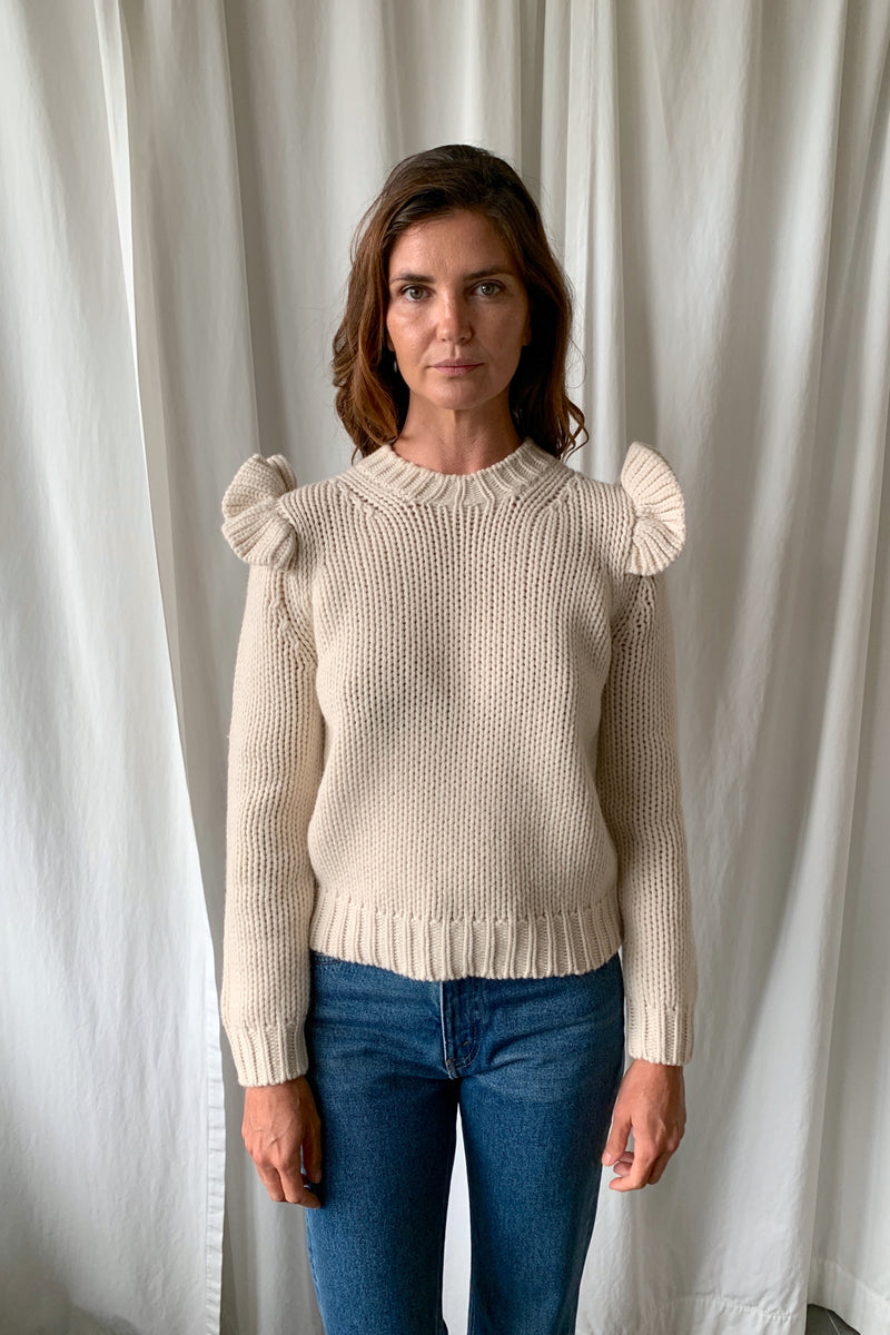 Shoulder Frill Sweater