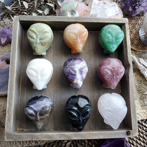 Cosmic Gemstone Crystal Aliens